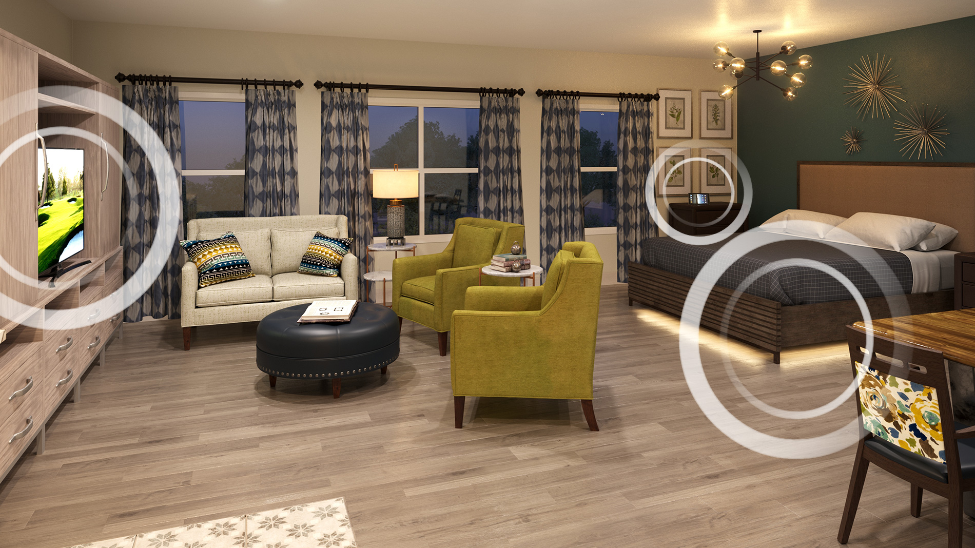Senior Living Bedroom With Incorporated Technology