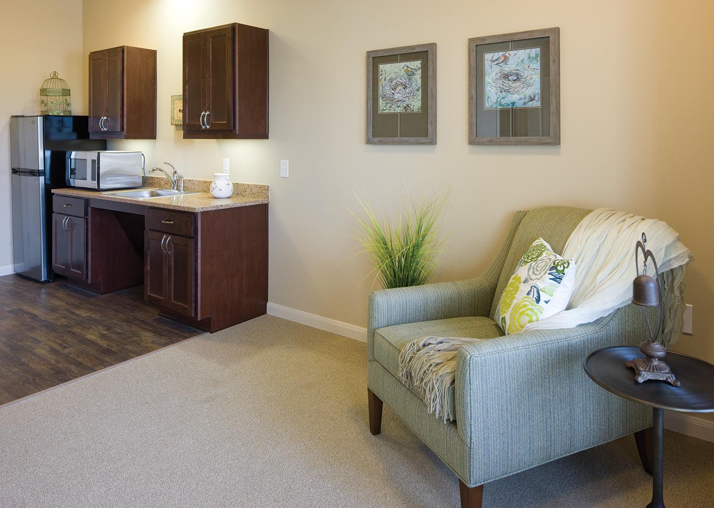 Resident Room at Elan Westpointe